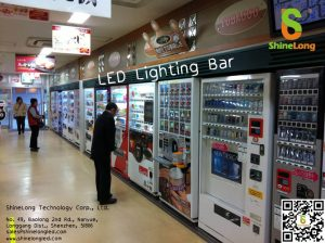 LED light bar for vending machine