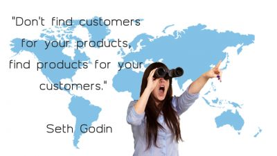 Don't find customers for your products