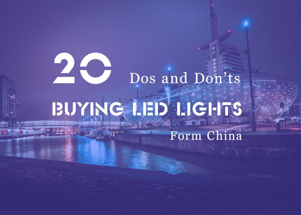 20 dos and don'ts tips Buying LED lights blog image