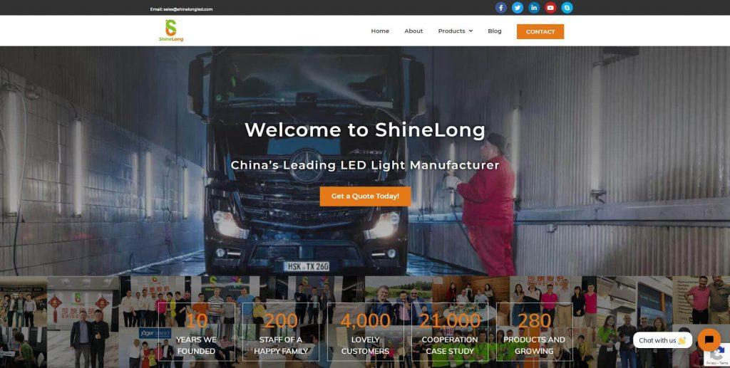 shinelong homepage screenshot