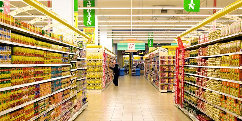 EcoMini Tri Proof LED Light for supermarket lighting