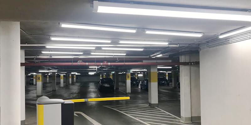 Parkade IP66 LED Tri-Proof Light for parking garage lighting