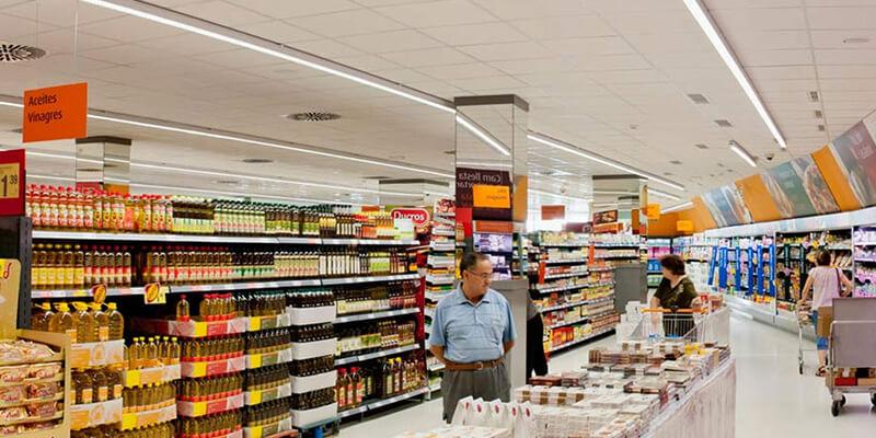 Slide Shop Lights for Supermarket Lighting