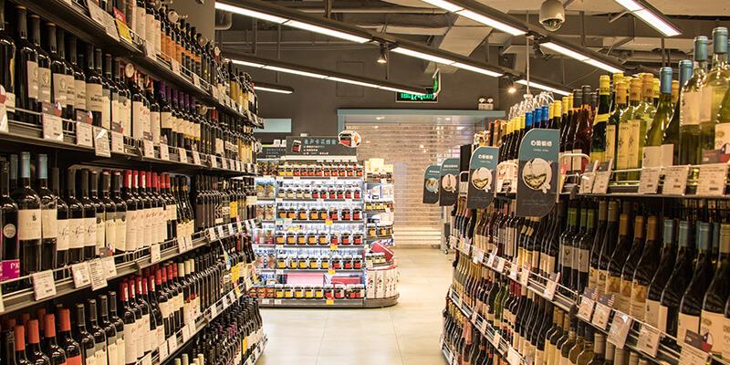 Slide Shop Lights for Wine Store Lighting
